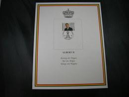 """BELG.1995 Militaire Herdenkingskaart """" ALBERT II """" Carte Commémorative Militaire - FDC"""