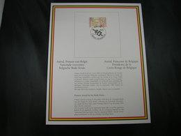 """BELG.1995 Militaire Herdenkingskaart """" PRINSES ASTRID /PRINCESSE ASTRID  """" Carte Commémorative Militaire - FDC"""