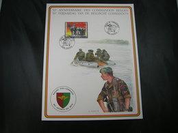 """BELG.1992 Militaire Herdenkingskaart """" COMMANDO'S """" Carte Commémorative Militaire - FDC"""