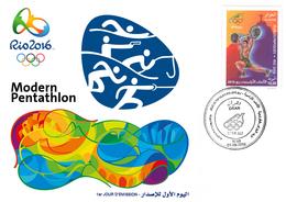 DZ Algeria 1747 Olympics Games Rio Brazil 2016 Jeux Olympiques Brésil Fencing Fechten Escrime Pentathlon - Fencing