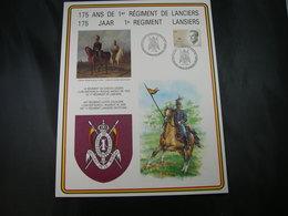 """BELG.1989 Militaire Herdenkingskaart """" LANSIERS """" Carte Commémorative Militaire - 1981-90"""