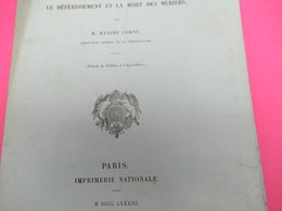 Fascicule/Botanique/Maxime CORNU/Rapport Sur Le Dépérissement Et La Mort Des MÛRIERS/Lavallée/1883  MDP134 - Libri, Riviste, Fumetti