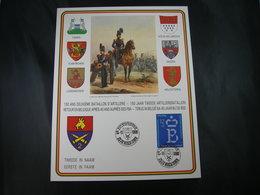 """BELG.1986 Militaire Herdenkingskaart """" ARTILLERIEBATALJON / BATAILLON D'ARTILLERIE """" Carte Commémorative Militaire - 1981-90"""