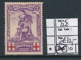 BELGIUM  COB 128 LH - 1918 Rotes Kreuz