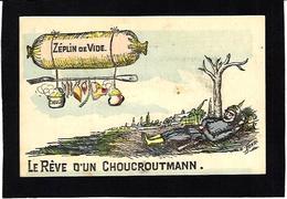 CPA Pot De Chambre Chamber Pot Zeppelin Satirique Caricature Guerre 14-18 Patriotique Anti Kaiser Germany écrite - Humour