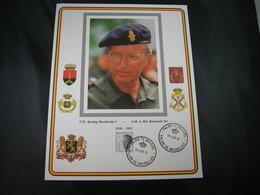 """BELG.1993 Militaire Herdenkingskaart """" KONING BOUDEWIJN /ROI BAUDOUIN """" Carte Commémorative Militaire - FDC"""