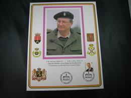 """BELG.1996 Militaire Herdenkingskaart """" ALBERT II """" Carte Commémorative Militaire - FDC"""
