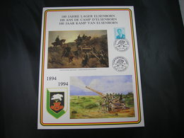 "BELG.1994 Militaire Herdenkingskaart "" CAMP D'ELSENBORN "" Carte Commémorative Militaire - 1991-00"