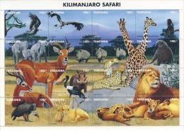 MDA-BK2-093-2 MINT PF/MNH ¤ TANZANIA 1995 16w In Serie ¤ BIRDS - KILIMANJARO SAFARI - ENDANGERED SPECIES - Animalez De Caza
