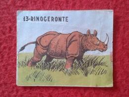 SPAIN ANTIGUO CROMO RARE OLD COLLECTIBLE CARD RINOCERONTE RHINO RHINOCEROS RHINOS RHINOCEROSES CREO AÑOS 1960 1970 APROX - Cromos