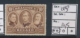 BELGIUM  COB 149 MNH - 1915-1920 Albert I