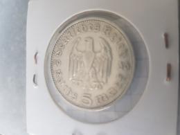 5 Mark 1936 F Hindenburg - [ 4] 1933-1945 : Third Reich