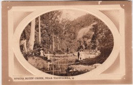 Spring Bluff Creek, Near Toowoomba, Queensland - Vintage With Message, 1911 - Towoomba / Darling Downs