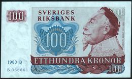 SWEDEN - 100 Kronor 1983 {Sveriges Riksbank} AU-UNC P.54 C - Sweden
