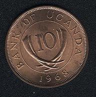 Uganda, 10 Cents 1968, UNC - Uganda