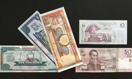 HAITI SET 10 10 20 25 50 GOURDES BANKNOTES 2000-2010 UNC - Haïti