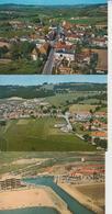 FRANCE  -  VUES AERIENNES  -  DIVERSES REGIONS  -  LOT DE 45 CARTES  -  Qes Ex En Scan  - - Cartes Postales