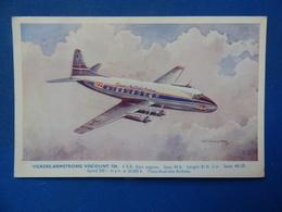 TRANS CANADAS AIRLINES   VICKERS VISCOUNT - 1946-....: Era Moderna