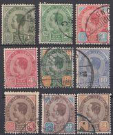 SIAM - 1900 - Serie Completa Composta Da 9 Valori Usati: Yvert 32/40; IL 39 è DI SECONDA SCELTA. - Siam