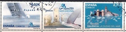 Spain 2004 - International Stamp Exhibition España 2004 - The Sea - Strip - 1931-Hoy: 2ª República - ... Juan Carlos I