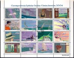 Spain 2004 - Sheet - School Stamps - Graphic Novel Trazo De Tiza - 1931-Hoy: 2ª República - ... Juan Carlos I