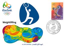 DZ Algeria 1747 Olympics Games Rio Brazil 2016 Jeux Olympiques Brésil Haltérophilie Weightlifting Gewichtheben - Weightlifting