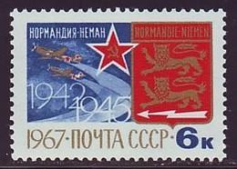 UdSSR Sowjetunion 1967. Französische Flieger-Kampfstaffel ''Normandie-Njemen''. Mi-Nr. 3401. Postfrisch MNH (**) - 1923-1991 URSS