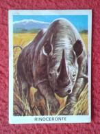 SPAIN ANTIGUO CROMO RARE OLD COLLECTIBLE CARD RINOCERONTE RHINO RHINOCEROS RHINOS RHINOCEROSES 1972 ANIMALES EN EL ZOO - Cromos
