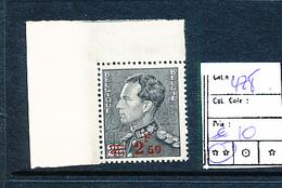 BELGIUM  COB 478 MNH - 1936-1951 Poortman