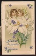 SOUVENIR DE PREMIERE COMMUNION  - GENT 1911   - 12.5 X 11 CM  RELIEF - Communion