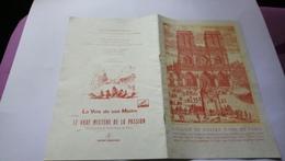 Programme Notre Dame De Paris Le Vrai Mystère De La Passion Sur Le Parvis Juin 1956 Aldebert Rare - Programas