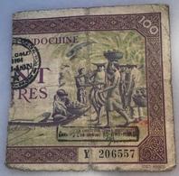 VIET-MINH PROVISIONAL ISSUE  CHO-LON RRR ! 1945 On Banque De L' Indochine  (banknote Billet Viet Nam Paper Money Vietnam - Vietnam