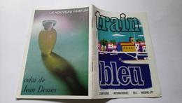 Brochure Horaire Train Bleu Compagnie Internationale Des Wagons Lits Jan à Mars 1966 Publicité - Ferrocarril & Tranvías