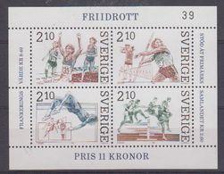 Sweden 1986 Athletics M/s ** Mnh (43382) - Blokken & Velletjes