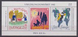 Sweden 1985 International Youth Year M/s ** Mnh (43383) - Blokken & Velletjes