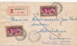 Lettre De Madagascar 1944, Timbres France Libre (CCF 125) - Madagascar (1889-1960)