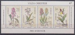 Sweden 1982 Orchids M/s ** Mnh (43384) - Blokken & Velletjes