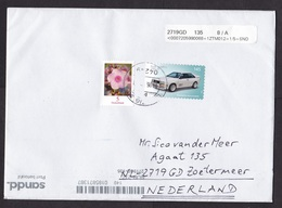 Germany: Cover To Netherlands, 2019, 2 Stamps, Audi Car, Flower, Cancel+label Private Mail Service Sandd (traces Of Use) - [7] République Fédérale