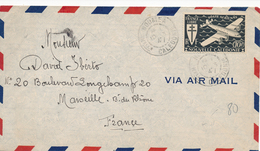 Lettre De Nouvelle Calédonie, Timbres France Libre (CCF 126) - New Caledonia