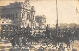 SOVRANI ROYALTY~GENOVA ITALY~VICTOR EMANUEL III-ELENA OF MONTENEGRO-CARRIAGE RIDE-GIABRUNI REAL PHOTO POSTCARD 40863 - Königshäuser