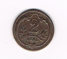 OOSTENRIJK  2  HELLER  1895 - Autriche
