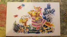 Foxes. MUSHROOMS -  Chanterelle Mushroom - Old Soviet Postcard - 1968 - Champignon - Champignons