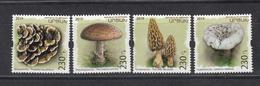 Armenia Karabakh Artsakh MNH** 2019 Mushrooms Set Mi 191-94   M - Pilze