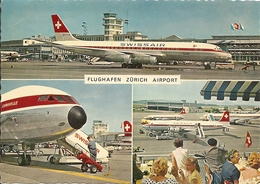 INTERKONTINENTALER FLUGHAFEN ZURICH KLOTEN - AIRPORT - MULTIVEDUTE - (rif. N87) - Aerodromi