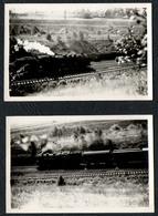 C6577 - 2 X Foto Eisenbahn Zug Lok Dampflokomotive - Trains
