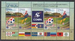 Armenia Karabakh Artsakh MNH** 2019 Football CONFIA Cup Set 195-96 KB  Football CONFIA Cup - Armenien