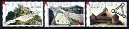 CROATIA 2001 Castles MNH / **.  Michel 587-89 - Croazia