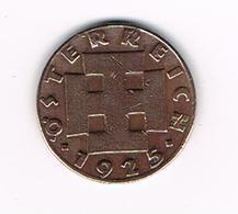 //  OOSTENRIJK  2 GROSCHEN 1925 - Autriche