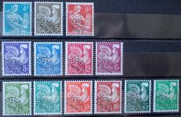 R1615/76 - 1953/1959 - TYPE MOISSONNEUSE / COQ GAULOIS - PREO - N°106 à 118 NEUFS** - Cote : 110,00 € - Vorausentwertungen