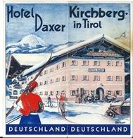 Dépliant Touristique Kirchberg In Tirol  Hôtel Daxer  Hahnenkamm Bahn Sepp Ritzer Obere Fleckalm - Tourism Brochures